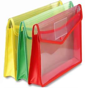 TEP Document Bag Flexi Case File Folder - Set of 3