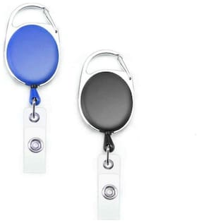 TEP I.D. Card Retractable Holder Badge Yo Yo Clip (Pack of 2)