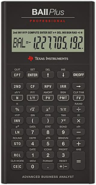 Texas Instruments Ba II Professional Financial Calculator