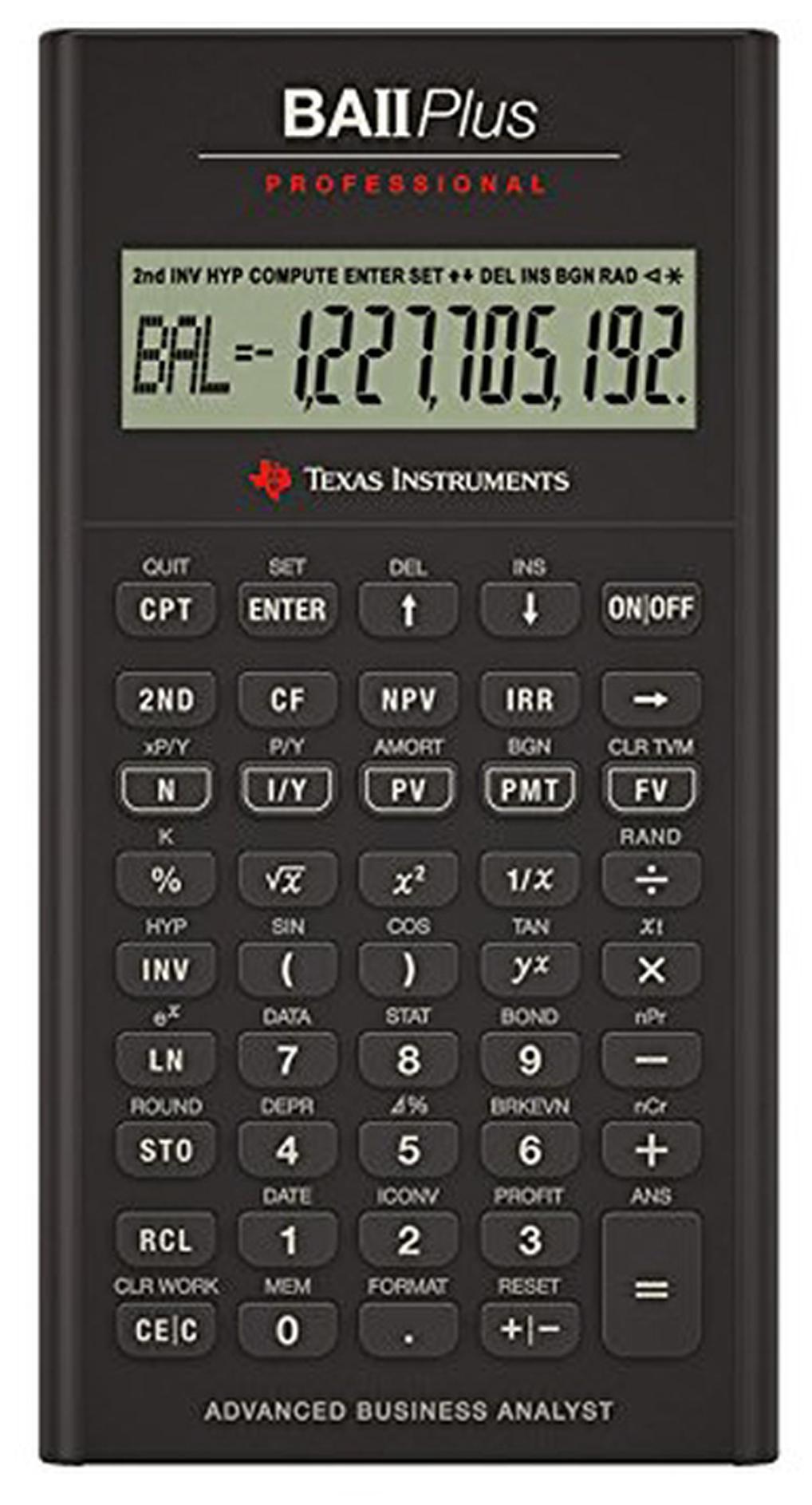 buy texas instruments ba ii professional financial calculator onlinetexas instruments ba ii professional financial calculator