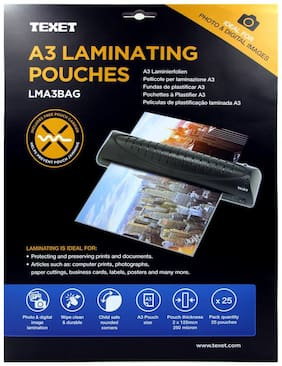 TEXET A3 High Quality laminating pouches - Pack of 25