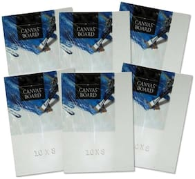 TG's Painting Cotton Medium Grain Canvas Board (8x10 inch Set of 6)
