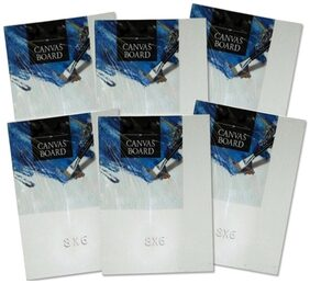 TG's Painting Cotton Medium Grain Canvas Board (6x8 inch Set of 6)