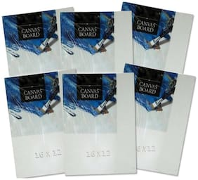 TG's Painting Cotton Medium Grain Canvas Board (12x16 inch Set of 6)
