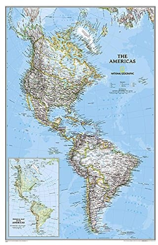 Buy The Americas - North & South America Political Map Laminated ...