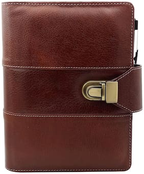 The Brown Business Organizer with Pen by Baluchi