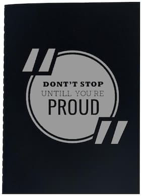 The Crazy Me Don't stop Until you're Proud Black Thread Bound A5 Diary