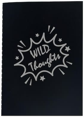 The Crazy Me Wild Thought Black Thread Bound A5 Diary
