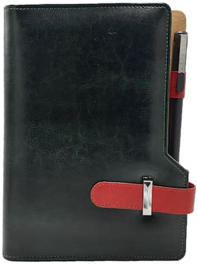 The Green and Red Business Organizer with Pen by Baluchi