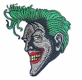 THE JOKER FACE EMBROIDERED PATCH 3 1/2""