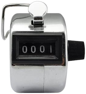 Tiny Deal 4 Digit Manual Hand Tally Mechanical Palm Click Counter