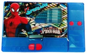 Toyvala Big multifunctional Spiderman Blue jumbo pencil box (Blue)