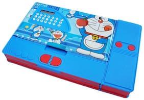 Toyvala Doraemon Doraemon Art Plastic Pencil Box  (Set of 1, Blue)