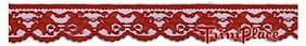 TRIMPLACE RED 1-1/4 INCH Floral Lace--24 Yards