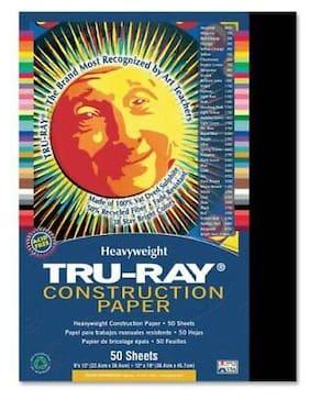 """Tru-ray Construction Paper - 12"""" X 9"""" - Black (PAC103029)"""