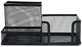 Tuelip Metal Mesh Desk Organizer For Office With 3 Camportment storage