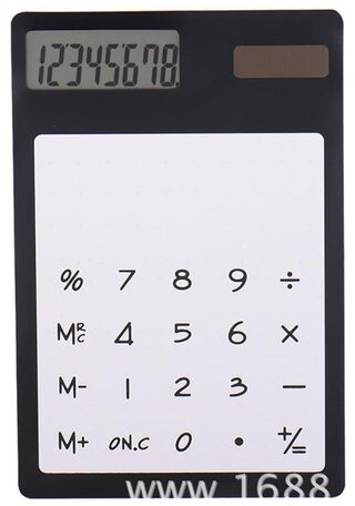 Ultrathin Solar Power Calculator With Transparent Touch Screen