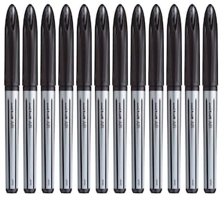 Uniball Air UBA 188 L Black Roller Ball Pen (Pack Of 12)