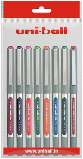 Uniball Ub-157 Roller Ball Pens ( Pack 8 Colours)