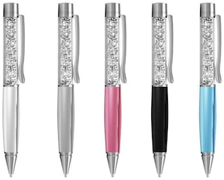 Unique Collections Crystal Ball Pen (Set of 1) (Assorted Color)