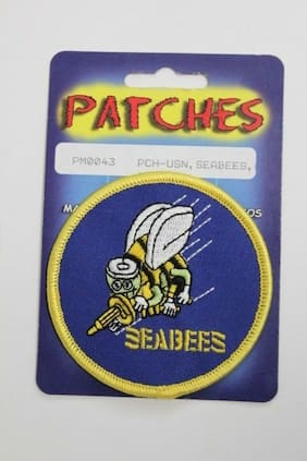 """United States Navy Seabees  Embroidered Patch 3"""" Officially Licensed"""