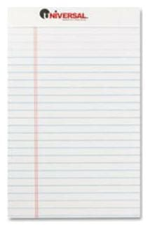 Universal Office Products 46300 Perforated Edge Writing Pad, Jr. Legal Rule, 5 X