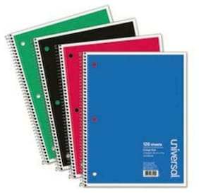 Universal Office Products 66400 Wirebound Notebook, 8-1/2 X 11, College Ruled,