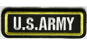 US Army Small Yellow Border Patch - 3.5 x 1.25 inch By Ivamis P3836 Free Ship