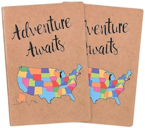 USA Travel Journal Set, A5 Notebook Journals for Travelers Gift, 5x8 in [2 Pack]