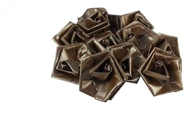 Utkarsh 50 g (Brown Color) Artificial Handmade Plastic Paper Rose Flowers For Diy Craft/Bouquet Making/Material/Wedding/Party Hall/Card Decorations & Gift Packing/Wrappings (Approxly 90 pcs)