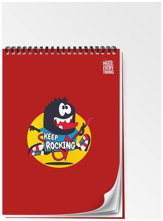 Utpatang - Note For Everything - Keep Rocking - A5 Unruled Ring Bound Motivational Notepad