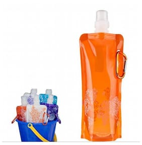 Vapur Foldable Body, Bag Hanging Hook, Sports bottle, double seal cap, chills water lasts longer (Pack of 2)