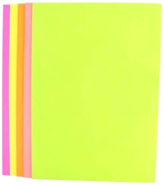 Vardhman Double Sided A4 Fluorescent Neon Paper - Pack of 100