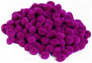 VFS VARDHMAN Pom Pom Big Wool Balls Purple Pack of 50;Used for Art & Craft;Dresses;Room Decoration;Jewellery Making etc