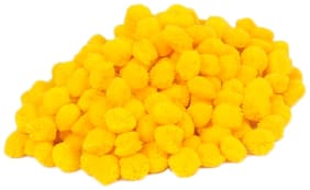 VFS VARDHMAN Pom Pom Wool Balls Yellow Pack of 230;Used for Art & Craft;Dresses;Room Decoration;Jewellery Making etc
