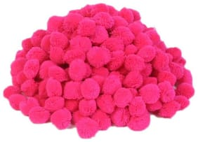 VFS VARDHMAN Pom Pom Wool Balls Magenta Pack of 230;Used for Art & Craft;Dresses;Room Decoration;Jewellery Making etc