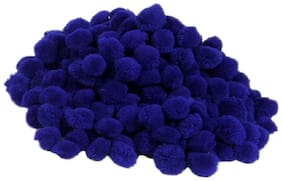 VFS VARDHMAN Pom Pom Big Wool Balls Royal blue Pack of 50;Used for Art & Craft;Dresses;Room Decoration;Jewellery Making etc