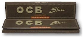 Virgin Unbleached Slim Papers Pack of 2 Booklets
