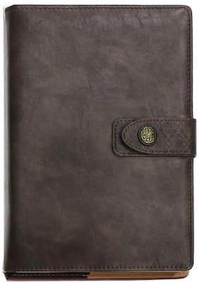Viva Orient New Year 2020 Dated Portfolio Diary 400 Pages with Oriental Inspiration Design and Matching Snap Closure (Brown)