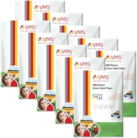 VMS Deluxe 150 GSM A4 (210x297mm) Photo Paper High Glossy   Pack of 10 (500 Sheets)
