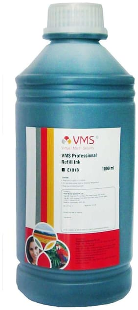 VMS Deluxe Refill Ink 1 liter(ltr) CIFSR color Black Epson Refill Ink Compatible for Epson
