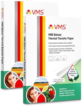 VMS Deluxe Thermal Transfer Paper A4 110 GSM (Pack of 2;200 Sheets)