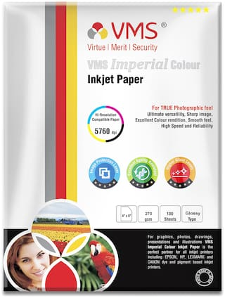 VMS Imperial 270 GSM 4R (4 x 6) Photo Paper High Glossy (100 Sheets)