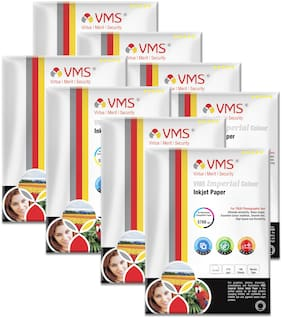 VMS Imperial 270 GSM 4R (4x6) Photo Paper Matte   Pack of 8 (800 Sheets)