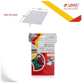 VMS Professional 210 GSM 4R (4x6) Photo Paper High Glossy   Pack of 2 (200 Sheets)