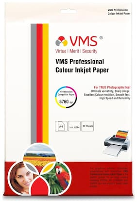 VMS Professional Cotton Canvas 320 GSM A4 (210x297mm) Photo Paper   Pack of 1 (10 Sheets)