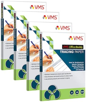 VMS Office Buddy 90/95 gsm A4 Tracing Paper (Pack of 4;1000 Sheets)