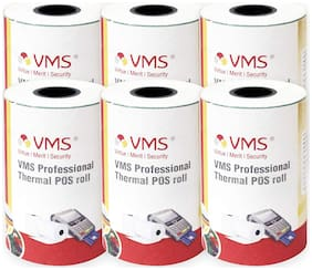 VMS Professional Thermal Paper Roll / POS Roll 55mm x 15m (Pack of 6)