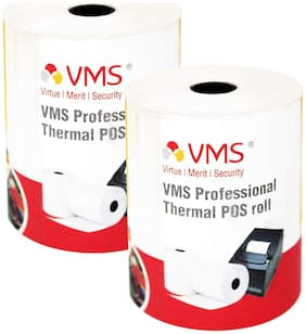 VMS Professional Thermal Paper Roll / POS Roll 78mm x 50m (Pack of 2)