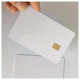 VMS Professional PVC Card with Chip Contact smart card, Blank Card, Contact IC Card, white Inkjet Printable Chip Card, blank Smart contact IC 25 card (25)